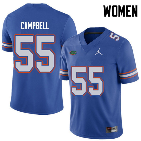 Jordan Brand Women #55 Kyree Campbell Florida Gators College Football Jerseys Sale-Royal
