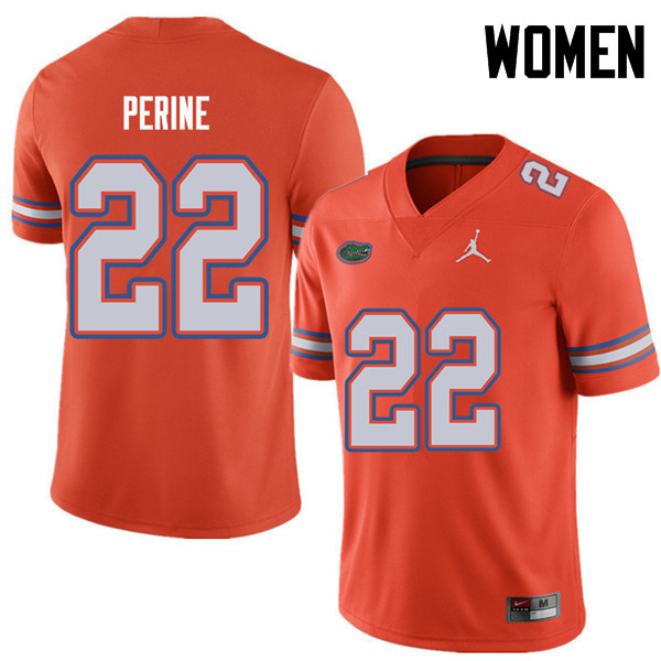 Jordan Brand Women #22 Lamical Perine Florida Gators College Football Jerseys Sale-Orange