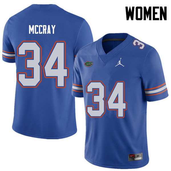Jordan Brand Women #34 Lerentee McCray Florida Gators College Football Jerseys Sale-Royal