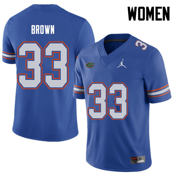 Jordan Brand Women #33 Mack Brown Florida Gators College Football Jerseys Sale-Royal