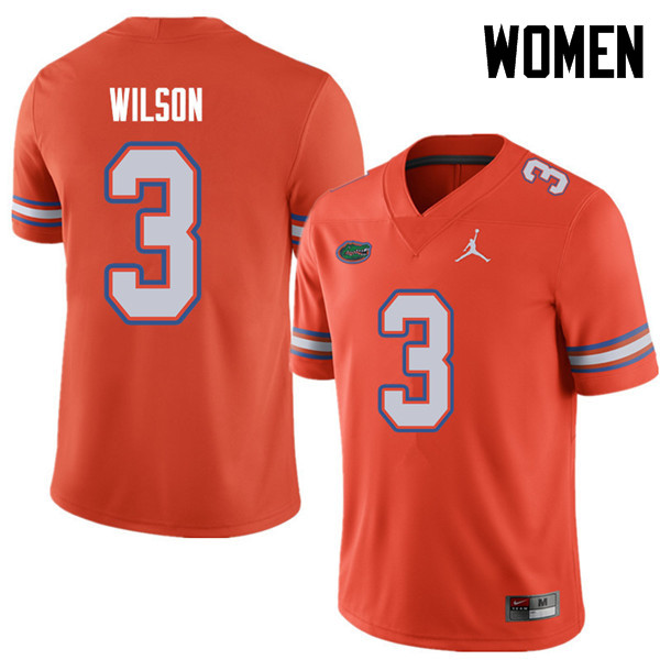 Jordan Brand Women #3 Marco Wilson Florida Gators College Football Jerseys Sale-Orange