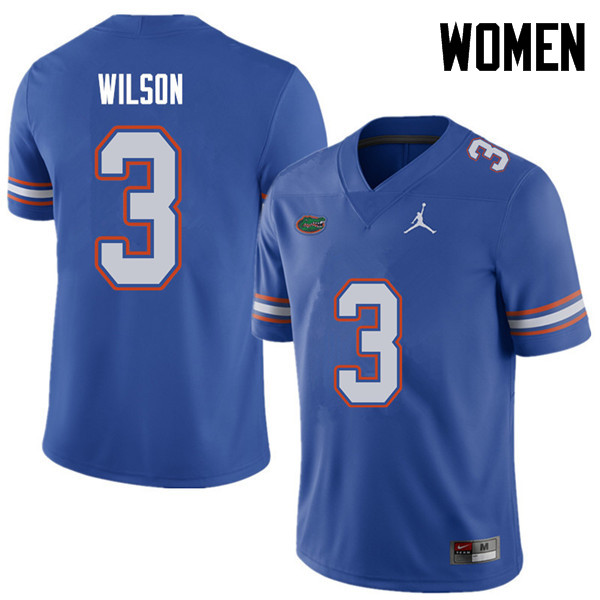 Jordan Brand Women #3 Marco Wilson Florida Gators College Football Jerseys Sale-Royal