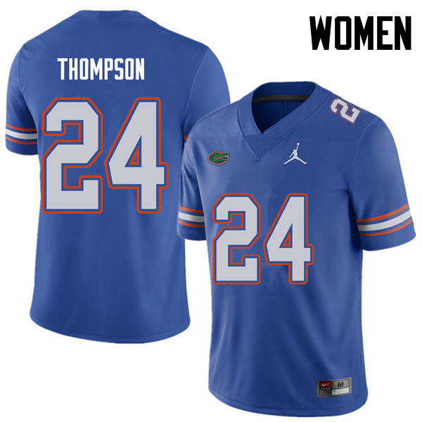 Jordan Brand Women #24 Mark Thompson Florida Gators College Football Jerseys Sale-Royal