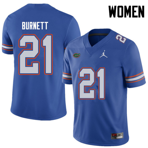 Jordan Brand Women #21 McArthur Burnett Florida Gators College Football Jerseys Sale-Royal