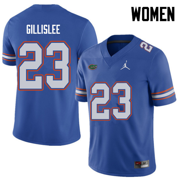 Jordan Brand Women #23 Mike Gillislee Florida Gators College Football Jerseys Sale-Royal