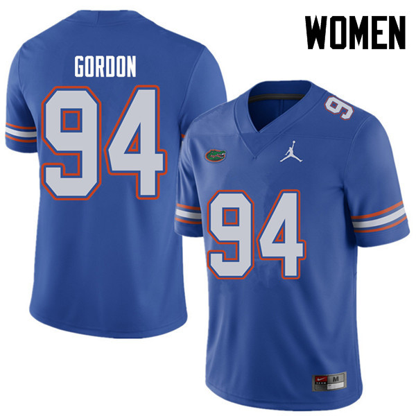Jordan Brand Women #94 Moses Gordon Florida Gators College Football Jerseys Sale-Royal