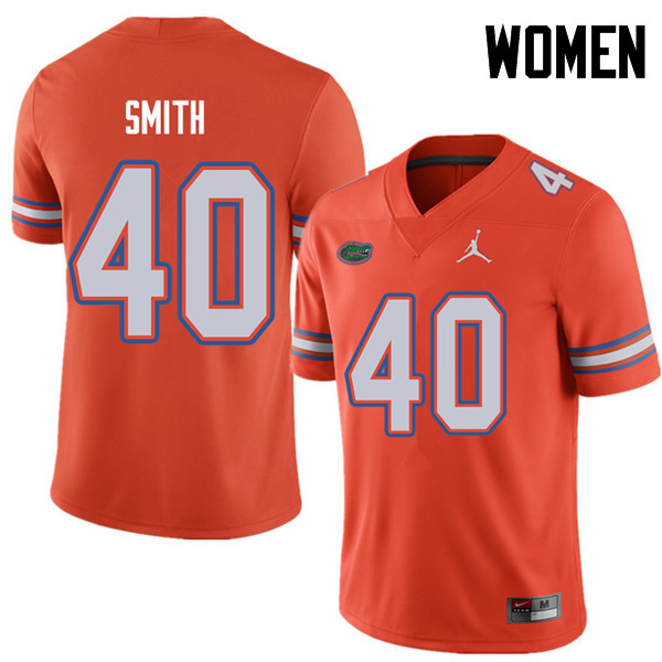 Jordan Brand Women #40 Nick Smith Florida Gators College Football Jerseys Sale-Orange
