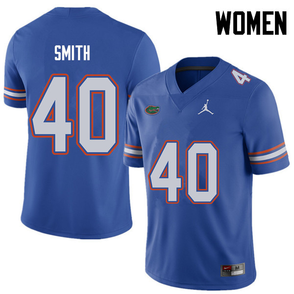 Jordan Brand Women #40 Nick Smith Florida Gators College Football Jerseys Sale-Royal