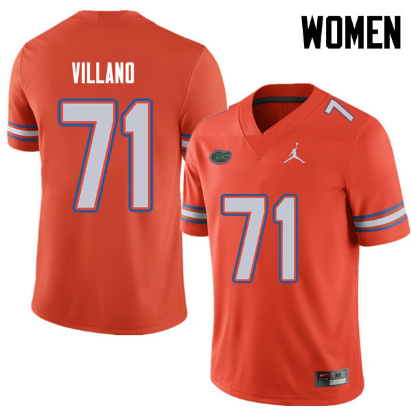 Jordan Brand Women #71 Nick Villano Florida Gators College Football Jerseys Sale-Orange