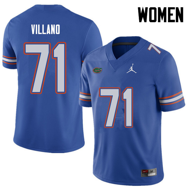 Jordan Brand Women #71 Nick Villano Florida Gators College Football Jerseys Sale-Royal