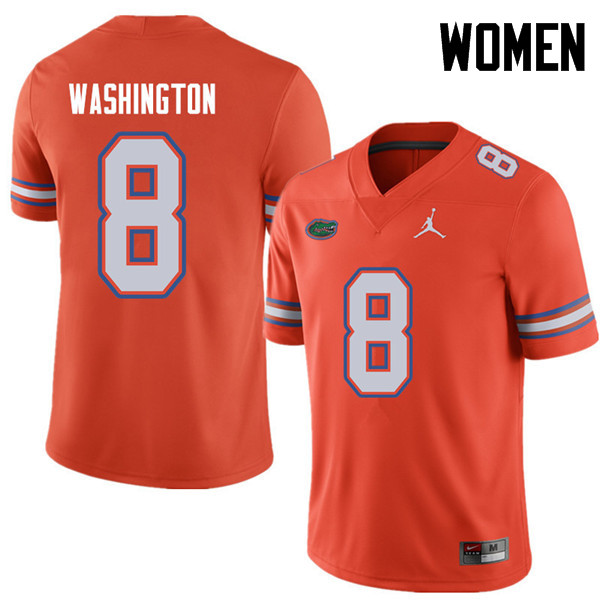 Jordan Brand Women #8 Nick Washington Florida Gators College Football Jerseys Sale-Orange