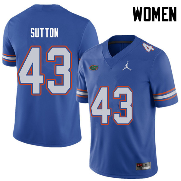 Jordan Brand Women #43 Nicolas Sutton Florida Gators College Football Jerseys Sale-Royal