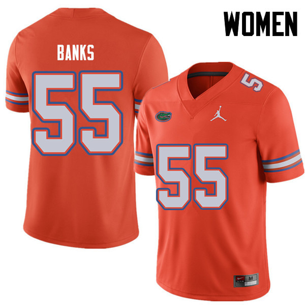 Jordan Brand Women #55 Noah Banks Florida Gators College Football Jerseys Sale-Orange