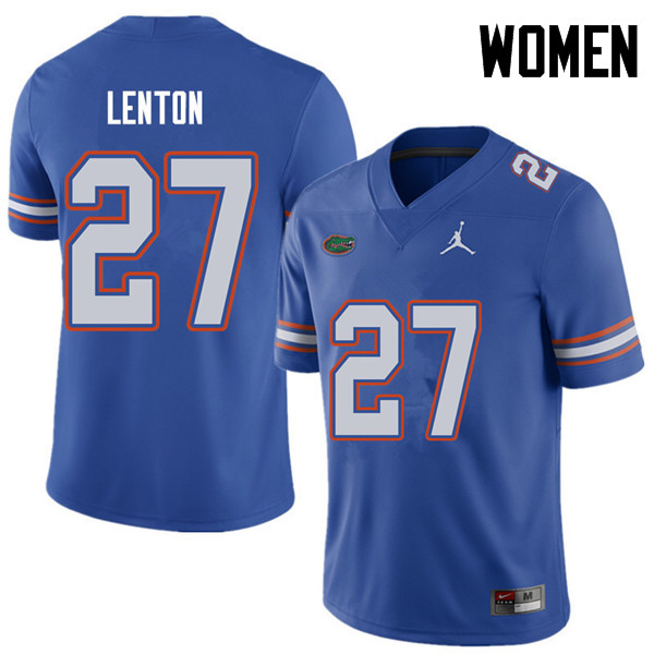 Jordan Brand Women #27 Quincy Lenton Florida Gators College Football Jerseys Sale-Royal