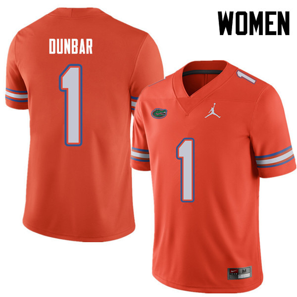 Jordan Brand Women #1 Quinton Dunbar Florida Gators College Football Jerseys Sale-Orange