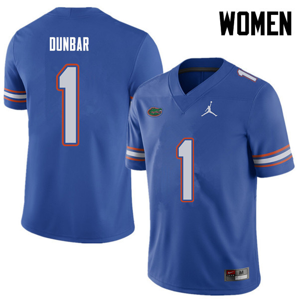 Jordan Brand Women #1 Quinton Dunbar Florida Gators College Football Jerseys Sale-Royal