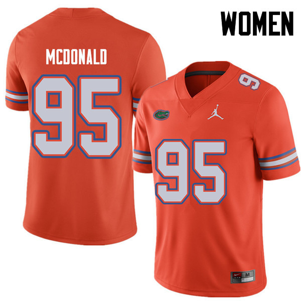 Jordan Brand Women #95 Ray McDonald Florida Gators College Football Jerseys Sale-Orange