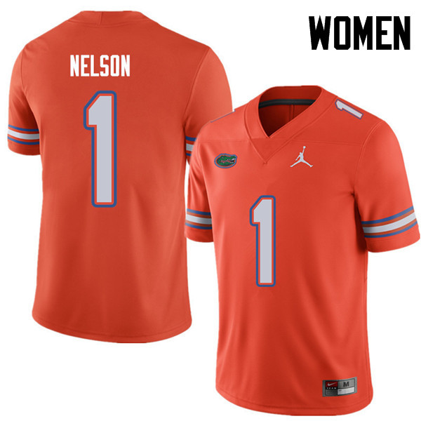 Jordan Brand Women #1 Reggie Nelson Florida Gators College Football Jerseys Sale-Orange