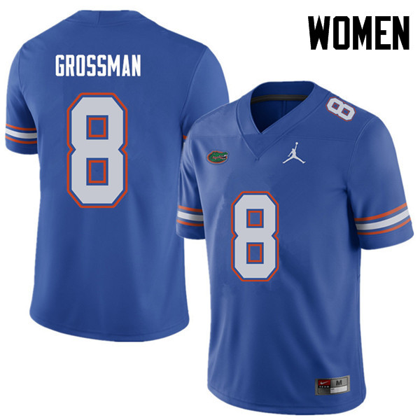 Jordan Brand Women #8 Rex Grossman Florida Gators College Football Jerseys Sale-Royal