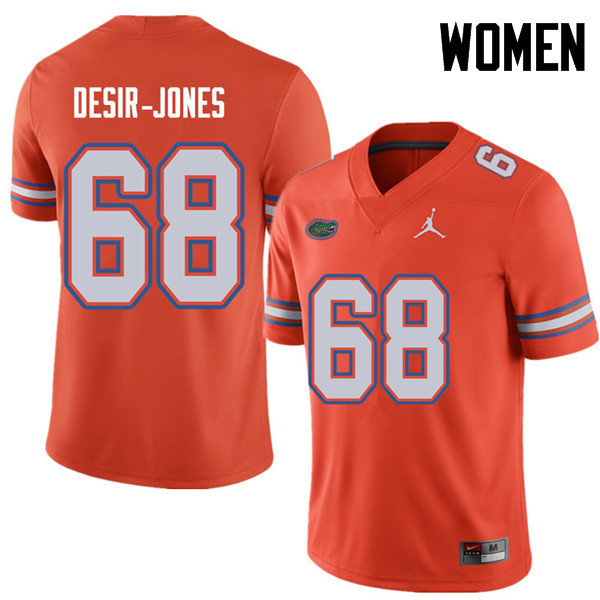 Jordan Brand Women #68 Richerd Desir-Jones Florida Gators College Football Jerseys Sale-Orange