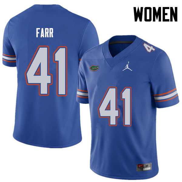 Jordan Brand Women #41 Ryan Farr Florida Gators College Football Jerseys Sale-Royal