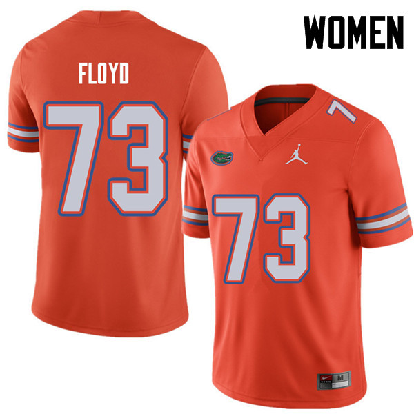 Jordan Brand Women #73 Sharrif Floyd Florida Gators College Football Jerseys Sale-Orange