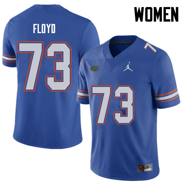 Jordan Brand Women #73 Sharrif Floyd Florida Gators College Football Jerseys Sale-Royal