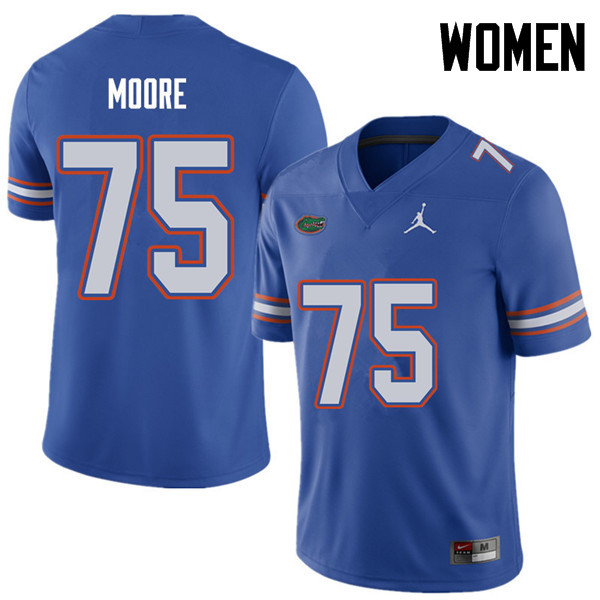 Jordan Brand Women #75 T.J. Moore Florida Gators College Football Jerseys Sale-Royal