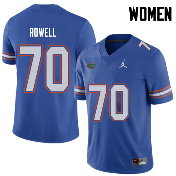 Jordan Brand Women #70 Tanner Rowell Florida Gators College Football Jerseys Sale-Royal