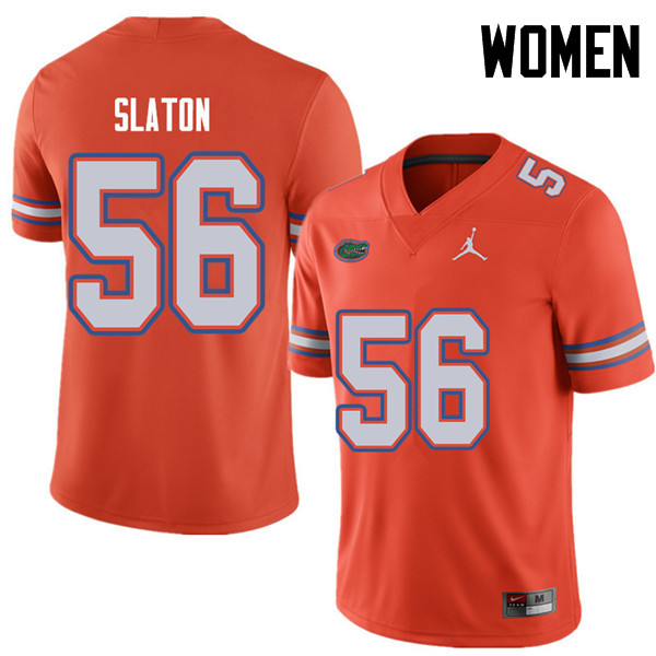 Jordan Brand Women #56 Tedarrell Slaton Florida Gators College Football Jerseys Sale-Orange
