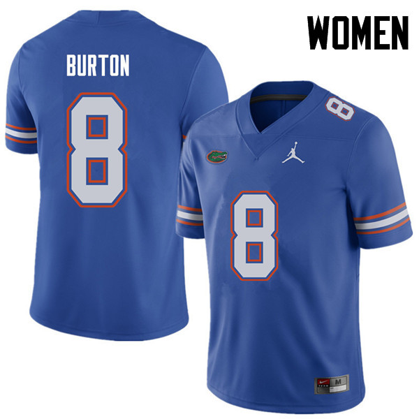 Jordan Brand Women #8 Trey Burton Florida Gators College Football Jerseys Sale-Royal