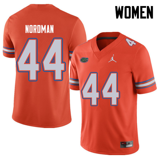 Jordan Brand Women #44 Tucker Nordman Florida Gators College Football Jerseys Sale-Orange