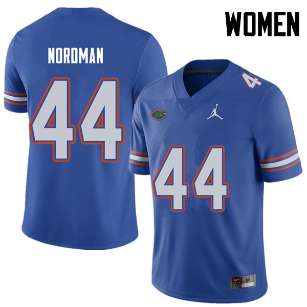 Jordan Brand Women #44 Tucker Nordman Florida Gators College Football Jerseys Sale-Royal