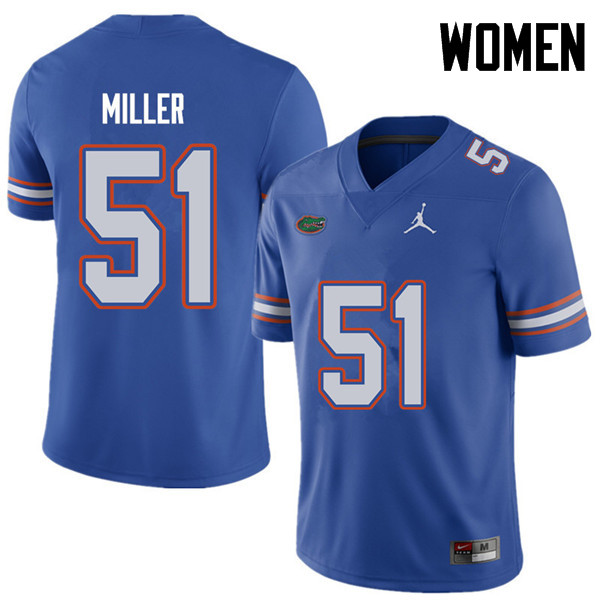 Jordan Brand Women #51 Ventrell Miller Florida Gators College Football Jerseys Sale-Royal