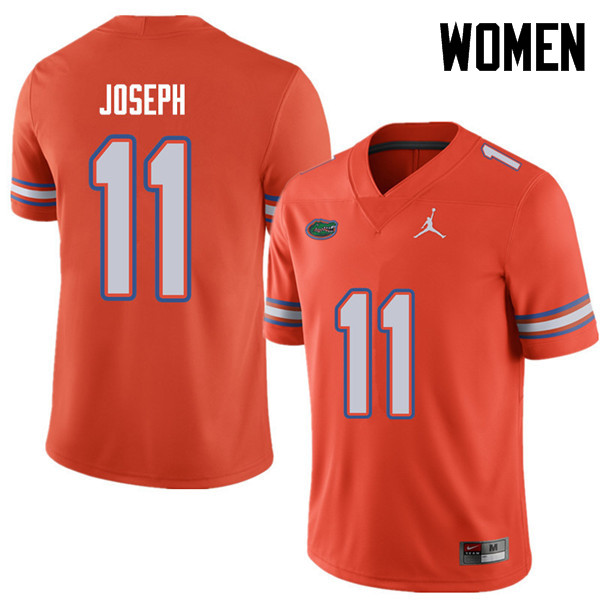 Jordan Brand Women #11 Vosean Joseph Florida Gators College Football Jerseys Sale-Orange