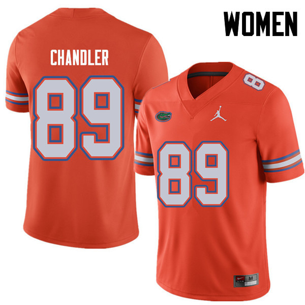 Jordan Brand Women #89 Wes Chandler Florida Gators College Football Jerseys Sale-Orange