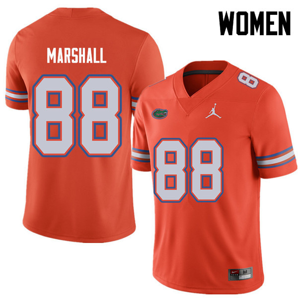 Jordan Brand Women #88 Wilber Marshall Florida Gators College Football Jerseys Sale-Orange
