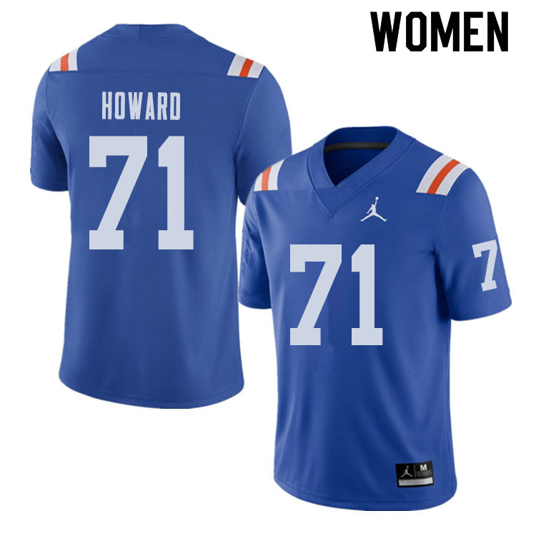 Jordan Brand Women #71 Chris Howard Florida Gators Throwback Alternate College Football Jerseys Sale