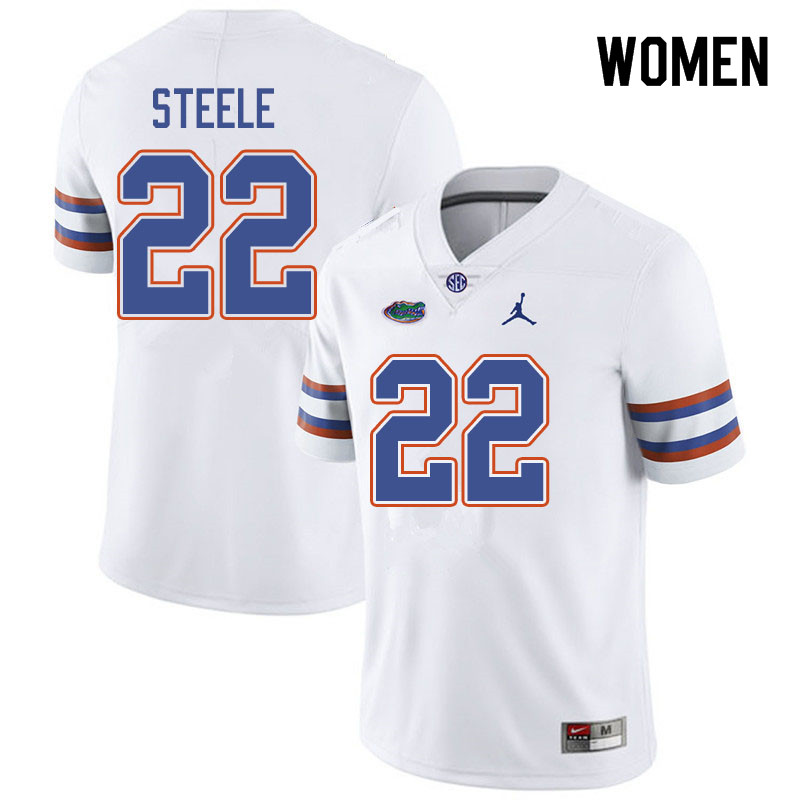Jordan Brand Women #22 Chris Steele Florida Gators College Football Jerseys Sale-White
