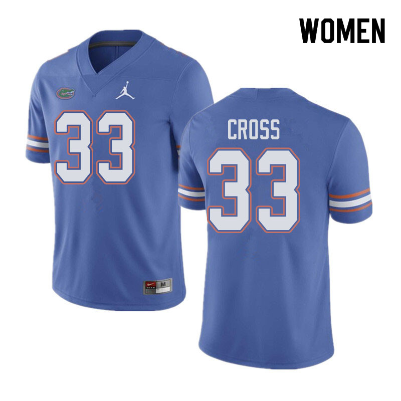 Jordan Brand Women #33 Daniel Cross Florida Gators College Football Jerseys Sale-Blue