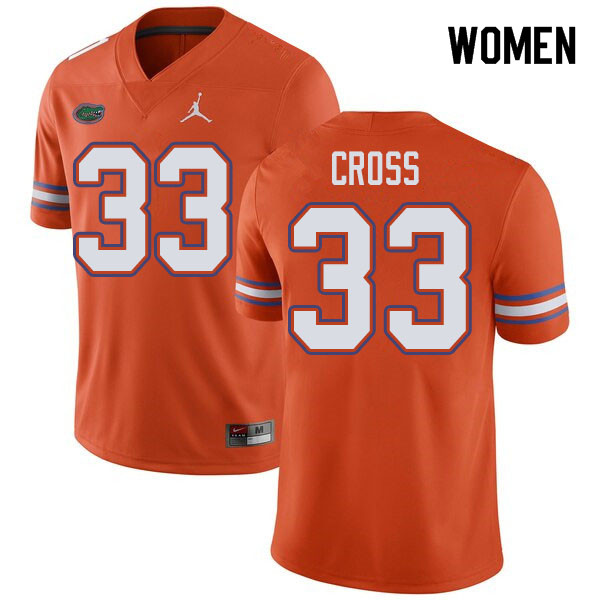 Jordan Brand Women #33 Daniel Cross Florida Gators College Football Jerseys Sale-Orange