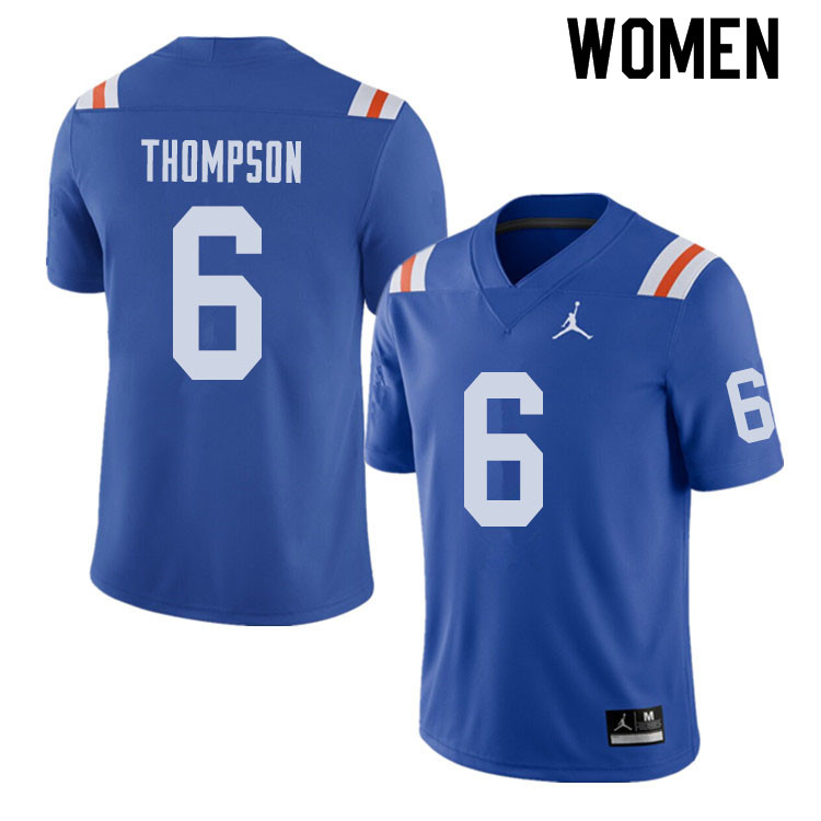 Jordan Brand Women #6 Deonte Thompson Florida Gators Throwback Alternate College Football Jerseys Sa