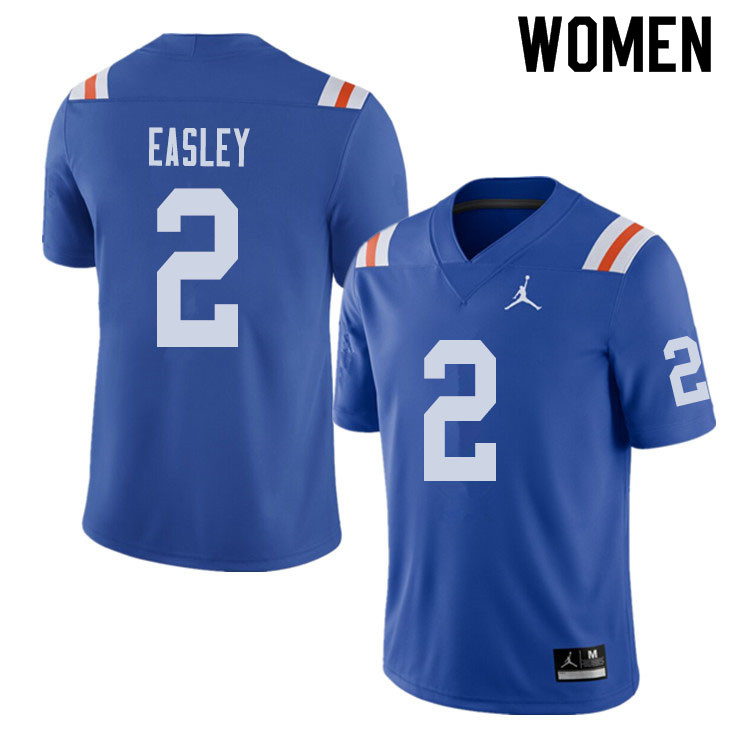Jordan Brand Women #2 Dominique Easley Florida Gators Throwback Alternate College Football Jerseys S