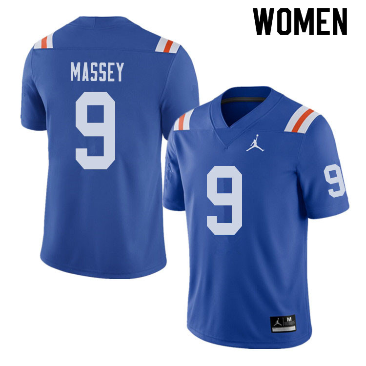 Jordan Brand Women #9 Dre Massey Florida Gators Throwback Alternate College Football Jerseys Sale-Ro