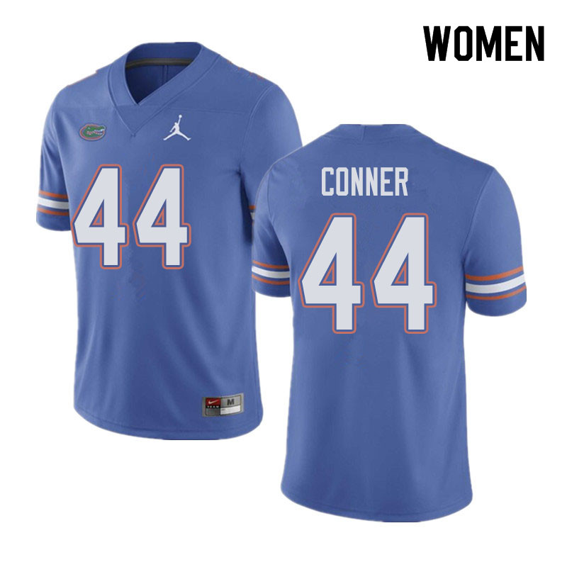 Jordan Brand Women #44 Garrett Conner Florida Gators College Football Jerseys Sale-Blue