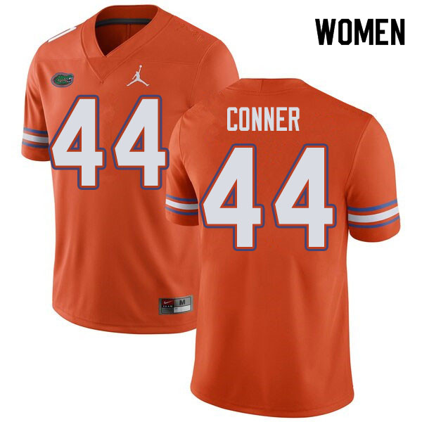 Jordan Brand Women #44 Garrett Conner Florida Gators College Football Jerseys Sale-Orange