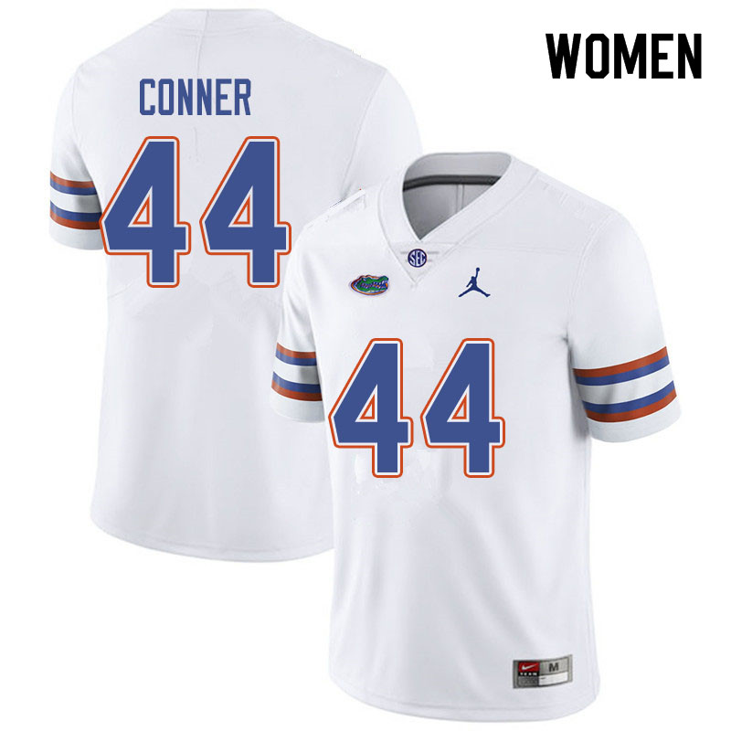 Jordan Brand Women #44 Garrett Conner Florida Gators College Football Jerseys Sale-White