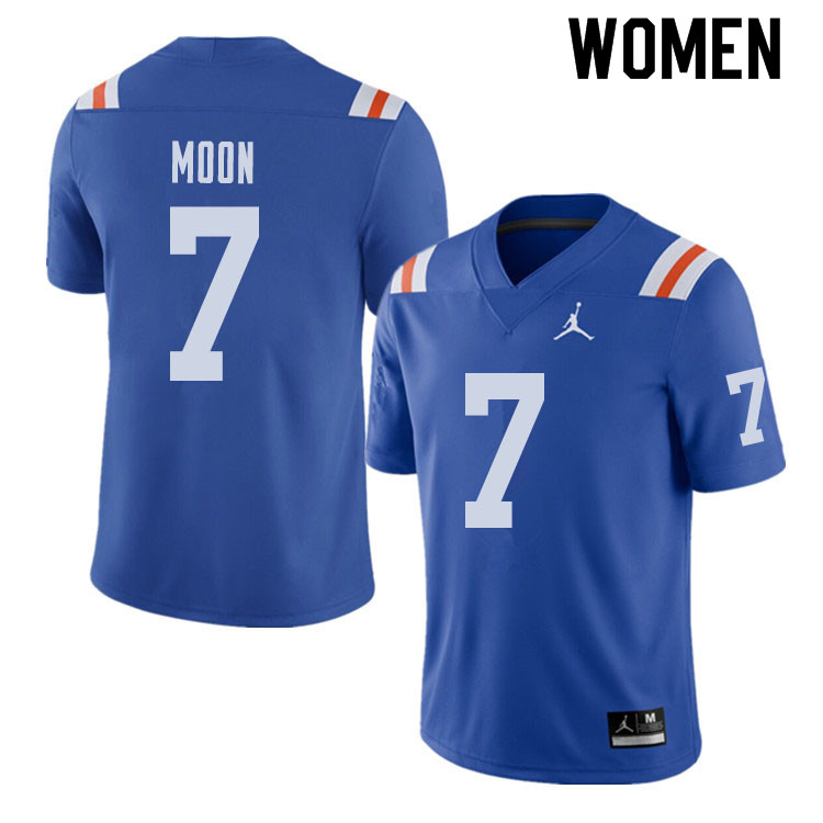 Jordan Brand Women #7 Jeremiah Moon Florida Gators Throwback Alternate College Football Jerseys Sale