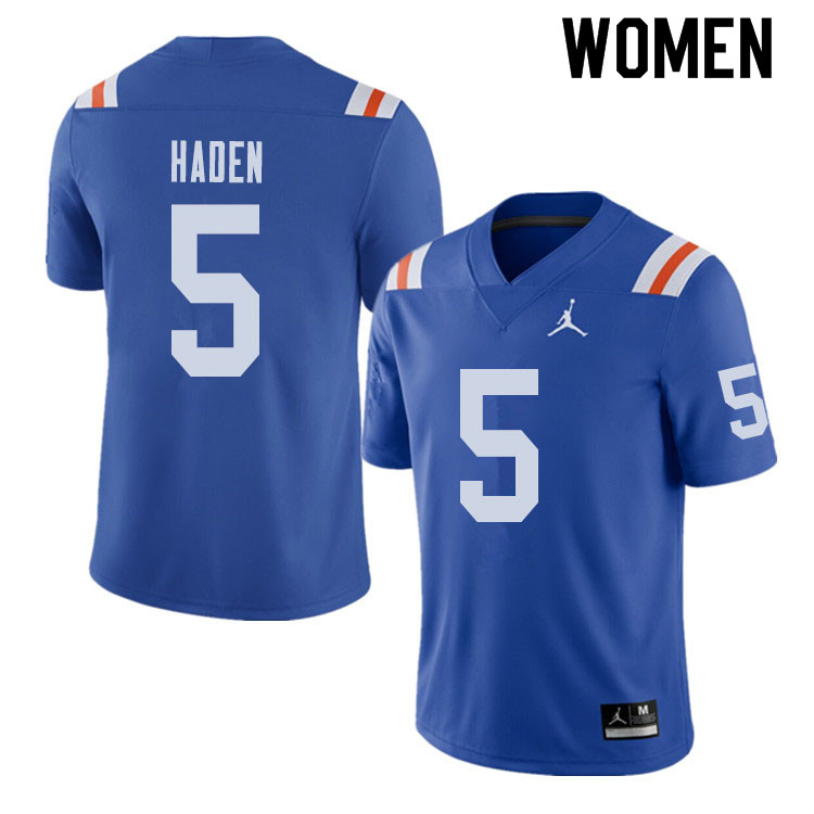 Jordan Brand Women #5 Joe Haden Florida Gators Throwback Alternate College Football Jerseys Sale-Roy