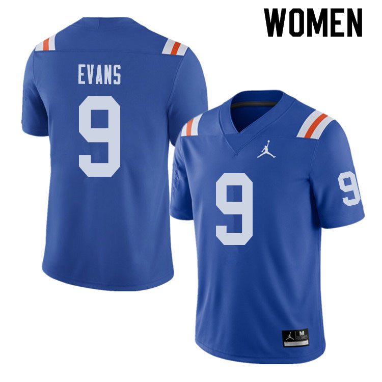 Jordan Brand Women #9 Josh Evans Florida Gators Throwback Alternate College Football Jerseys Sale-Ro